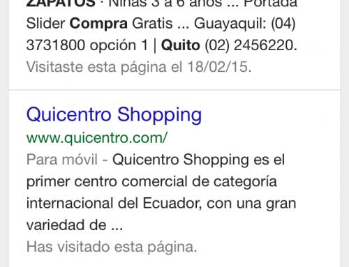 Web móvil y búsquedas locales para realizar compras