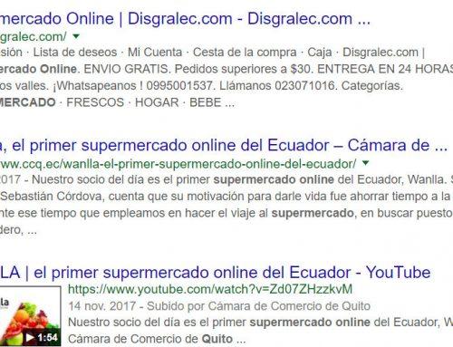 Posicionamiento web de supermercados online en el Ecuador