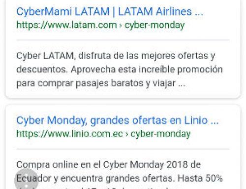 Cybermonday Ecuador en Google