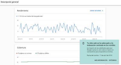 Search Console: Rastreo cambiado al robot de Google para móviles.