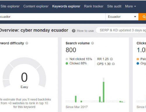 Cyber Monday en el Ecuador y el SEO-SEM